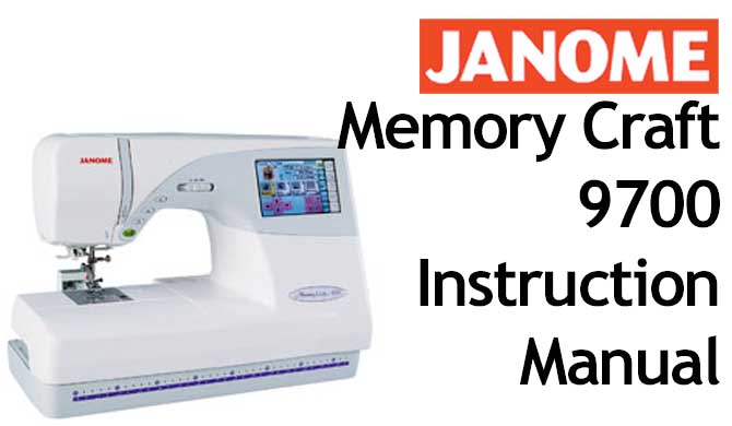 Troubleshooting Janome New Home MC 9700